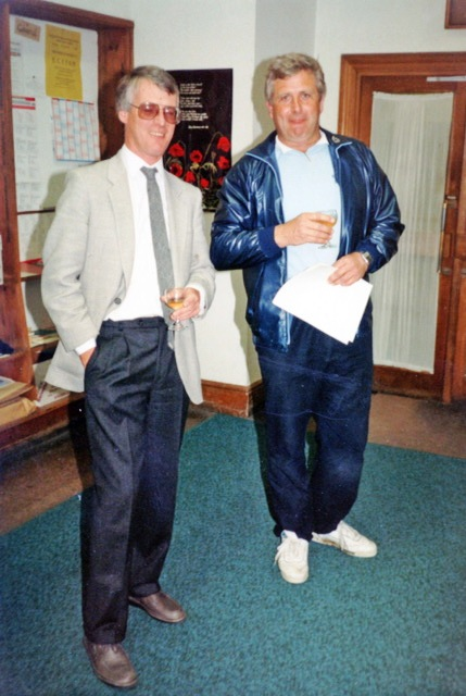 John Commerford and Roger Grogut in May 1988