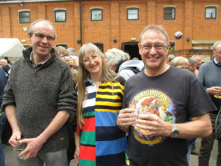 Chris, Gill & Andy at the Farnham Beerex 2017