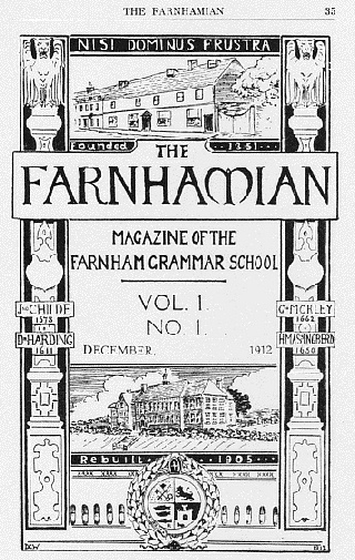 Cover of the first issue of the Farnhamian December 1912
