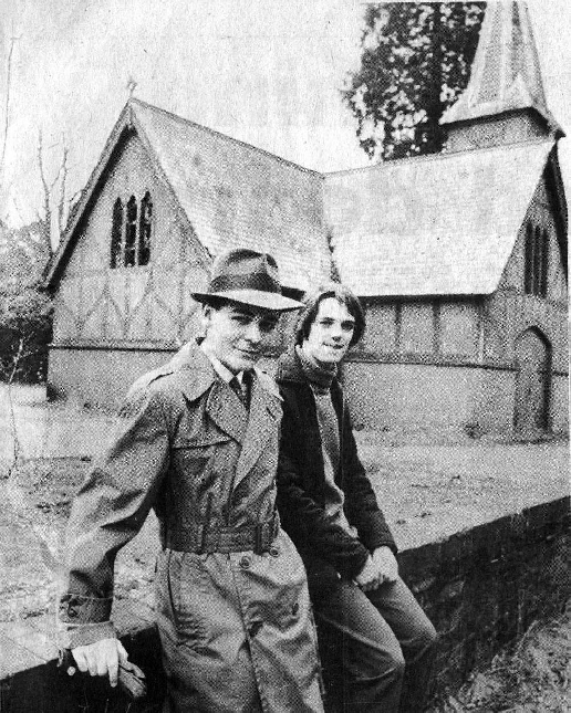 John Clarke at Brookwood Cemetery in 1979