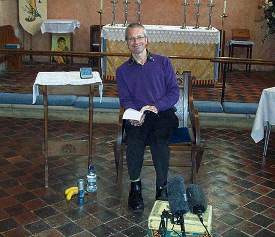 "David's ""readathon"" at St Mary's Church, Barnham, August 2011"
