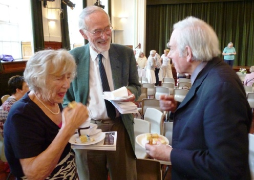 Alsion Schofield, John McLaughlin and the Rev Innes at the FGGS 110th anniversary